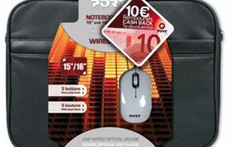 Stylová černá brašna na notebook od Port Designs + myš s USB. NOVÉ a KVALITNÍ pohodlí pro váš osobní notebook