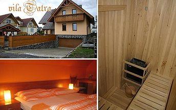 Pobyt pre 2 osoby na 3 dni s raňajkami a vstupom do sauny! Príďte do Starej Lesnej vo Vysokých Tatrách a ubytujte sa v penzióne rodinného typu VILA TATRA. Užite si krásnu prírodu s priateľmi či rodinou.