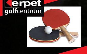 Hodina stolního tenisu v Erpet Golf Centru – profesionální služby, moderní zázemí. Lze spojit s návštěvou restaurace či využít nabídky jiných sportů!