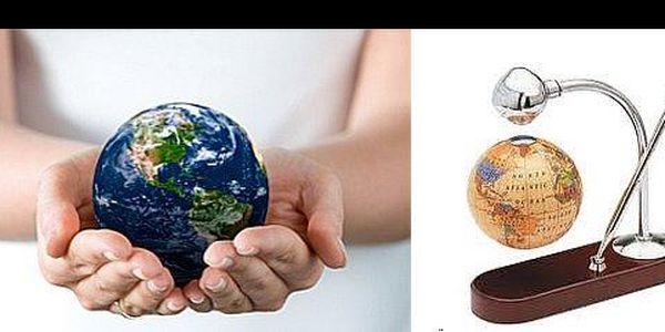 Ozdob svůj byt či kancelář vznášející se zeměkoulí, navíc s bezva 38% slevou! Jen za 749,-Kč získáš jedinečný a luxusní levitující globus!