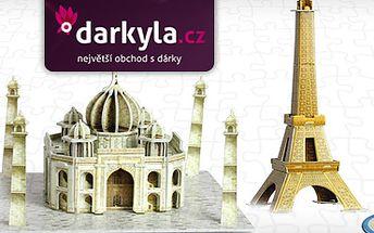 NOVINKA: 3D PUZZLE s 40% slevou jen za 59 Kč!! 8 modelů známých světových staveb!! Vhodný netradiční dárek pro děti i dospělé!!