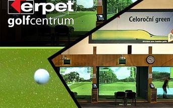 Hodina na golfovém simulátoru v Erpet Golf Centru – profesionální služby, špičkové zázemí. Lze spojit s návštěvou restaurace či využít dalších sportů!
