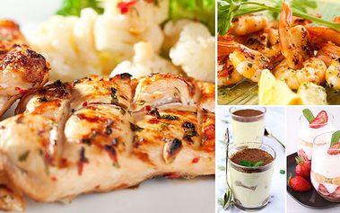 450 Kč za SPECIÁLNÍ 4chodové menu pro 2 osoby v oblíbené restauraci Pizzeria Ristorante Cappuccini za 450 Kč! Krevetky, kuřecí steak na meruňkách, hruškový salát, jahody s mascarpone! DOKONALÁ souhra chutí při nádherném, romantickém večeru!