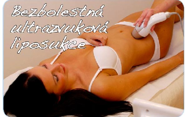 Bezbolestná ultrazvuková liposukce 50 min + 20 min lymfodrenáž přístrojem Presor 30 min.