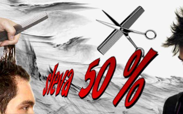 50% SLEVA NA PÁNSKÉ STŘÍHÁNÍ!!! Pánové, připravili jsme pro Vás pánské stříhání s 50% slevou!!! Nenechte si ujít stříhání za cenu, kterou jsteu kadeřníka platili před mnoha lety ;-)