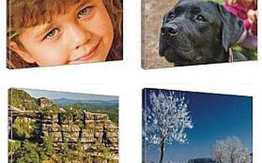 TIP na dárek! FOTOOBRAZ 110 × 75 cm = vaše FOTOGRAFIE na lesklém plátně s jemnou strukturou a na dřevěném rámu