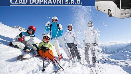 Lyžovačka v Alpách! Celodenní lyžařský zájezd luxusním autobusem. Čeká vás 40 km lyžařských tratí a snowpark!