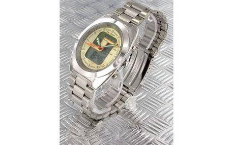 Duální hodinky - zobrazuji analogový čas a také digitální -stopky, alarm, světlo,datum a to vše jen za 399kč