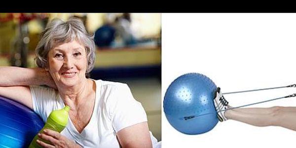 Cvič i relaxuj v pohodlí domova, a navíc s 43% slevou! Jen za 169,- Kč získáš úžasný gymnastický míč s posilovací gumou, a Tvé tělo bude fit a v pohodě!