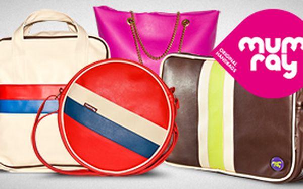 Sleva 40% na originální, ručně šité tašky a kabelky MUMRAY dle vlastního výběru. Pouze 59Kč. Buďte jedineční a dolaďte svůj outfit originální taškou s designem Mum-ray.