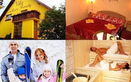 Užite si 4-dňový pobyt v penzióne Vila House Family v Poprade so vstupom do aquaparku, skipassom, saunou a fľašou vína! Vyberte sa na rodinnú lyžovačku do Tatier a načerpajte energiu vo vysokohorskom prostredí so zľavou 48%!