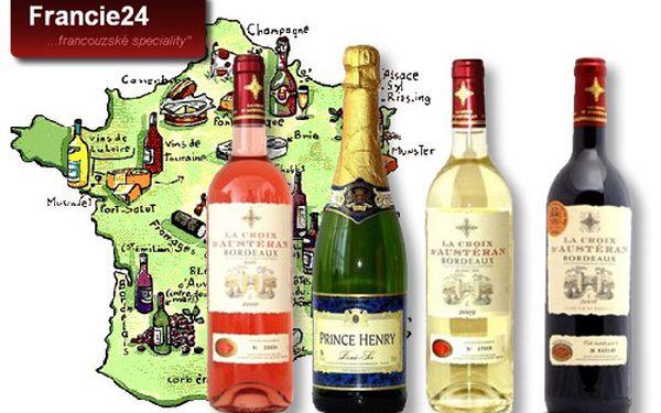 FRANCOUZSKÁ VÍNA již od 69 Kč! Šumivé víno Princ Henry nebo Bordeaux, La Croix D´Austéran bílé, růžové nebo červené od přímého dovozce. Ochutnejte, jak chutná Francie!