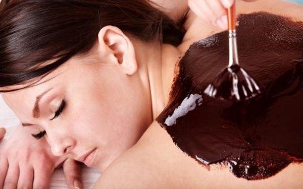 Čokoládová masáž – 50 min. Výběr ze 6 druhů – čokoládová, medová, lávovými kameny, minerální, klasická nebo relaxační
