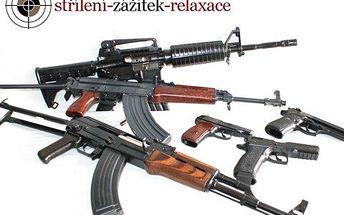 Střelnice pro dvě osoby! Zastřílejte si z 10 druhů zbraní vhodných pro muže a ženu. 100 nábojů v ceně!