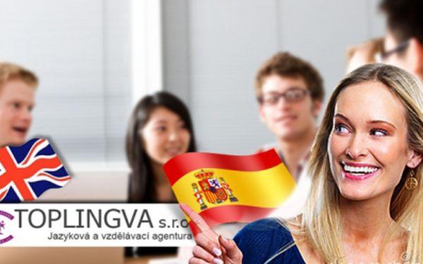 Jazykový kurz v TOPLINGVA s 51% slevou! Konverzace angličtiny nebo španělštiny s rodilým mluvčím nebo angličtina Callanovou metodou za 2 772 Kč!