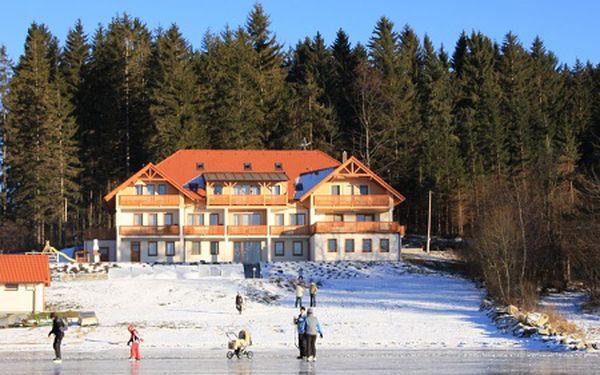 5-denní pobyt pro DVA u Lipenského jezera v apartmánech Vanessa. 2 DĚTI do 10 let jsou ZDARMA. V zimě na lyže, na jaře na vodu.