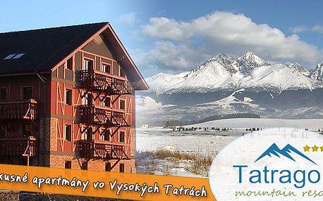 Ubytování v luxusních 3 pokojových apartmánech v Tatrách na 3 dny pro 4 osoby jen za 2280 Kč. Tatragolf ****, ideální místo na zimní dovolenou a relax přímo pod Vysokými Tatrami.