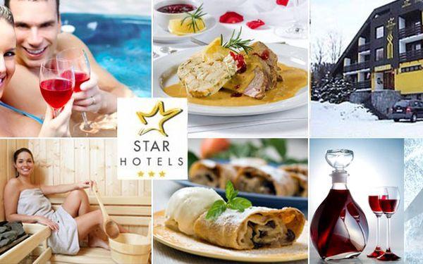 SKVĚLÁ CENA! 3 DNY pro 2 osoby v zasněženém srdci Krkonoš ve středu lyžařského střediska Benecko VČETNĚ polopenze, karaf vína a kávy se štrůdlem za 1 740 Kč!! NEJKRÁSNĚJŠÍ ZIMA ve Star hotelu Benecko!