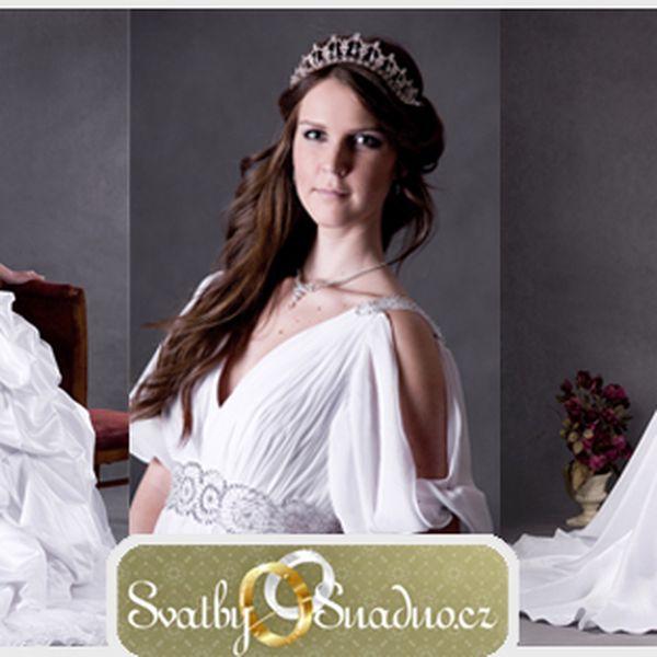 NOVÉ SVATEBNÍ ŠATY za cenu půjčovného! Jedinečná možnost koupě kvalitních, ručně vyšívaných svatebních šatů za cenu 8 250 Kč! Sleva 45% z původních 15000 Kč.