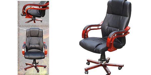 LUXUSNÍ kožené kancelářské křeslo v krásném designu za 2 590 Kč! Vysoce kvalitní kůže, elegance, ergonomické opěradlo, sklápěcí mechanismus s individuálním přizpůsobením hmotnosti. V PRÁCI TEĎ BUDETE RÁDI!