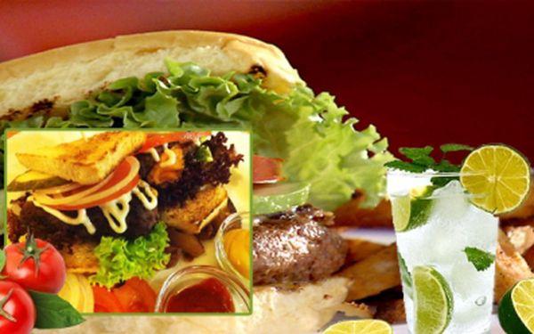 Přijďte ochutnat speciální burger Giovani, pečené Toskánské brambory s česnekem a slaninou a džbán citronády s limetkami. To vše PRO DVA jen za 209 Kč! 61% sleva!