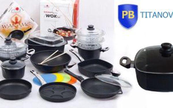 Poukaz na nejkvalitnější titanové nádobí v Evropě. Hodnota poukazu 1000 Kč, cena poukazu 250 Kč.