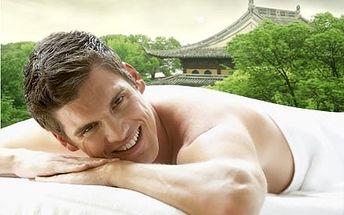 Luxusní 90 minutová masáž celého těla pro muže. Perla Orientu s použitím vonných olejů dovezených z Indie.