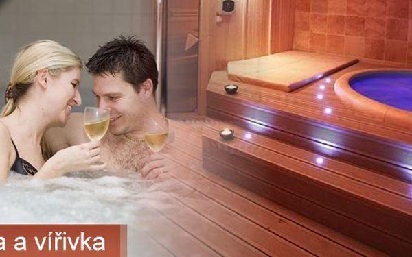 Sauna s vířivkou pro 2 osobu na 2 hodiny v centru Prahy i s lahví sektu za 1299Kč.