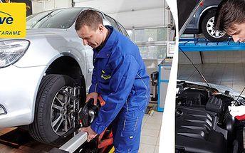 49 Kč za pečlivou servisní prohlídku vašeho vozu včetně kontroly tlumičů a geometrie. Bezpečná jízda se slevou 94 %!