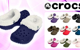 Oblíbená obuv Crocs v zimním provedení s kožíškem za 475 Kč. Výběr z 6ti barev i různých velikostí. Velmi lehké, odolné, antibakteriální s protiskluzovou podrážkou. Zamezují pocení nohou. Dají se vyprat v pračce!!!