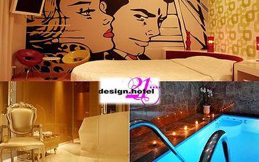 Ubytovanie 2 osoby v exkluzívnom Hotel DESIGN**** na 1 alebo 2 noci aj s 2 hod. súkromným WELLNESS! V cene tiež chutné raňajky, ovocná misa a fľaša lahodného sektu! Zažite božský relax a krásu štýlového interiéru so zľavou až do 65%!