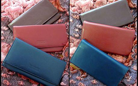 Kožená dámská peněženka s kvalitním zpracováním kůže a šitím za fantastickou cenu 225 Kč