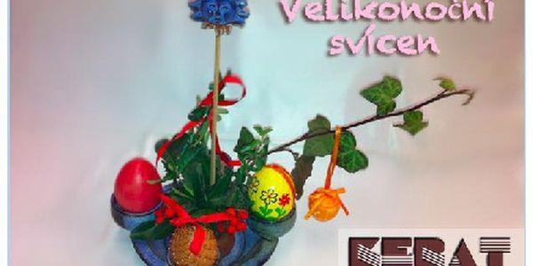 Velikonoční svícen s miskou na zdobení a aranžování. Připravte se na Velikonoce a zkrášlete si Váš stůl.