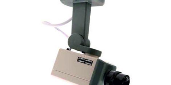 Zabezpečte si Váš majetek s atrapou kamery se světélkem a automatickým otáčením!! Nyní se slevou 45%!!
