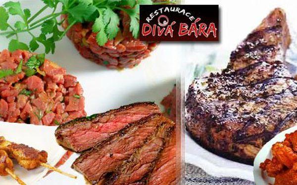 Smlsněte si na masových hodech v restauraci Divá Bára v Brně jen od 99Kč. Pořádné porce masa pro pořádné gurmány, stačí si jen vybrat!