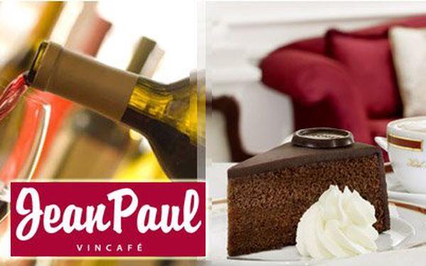Pouhých 220 Kč za 0,75l láhev exkluzivního přívlastkového vína, 2x kávu ILLY dle vlastního výběru a 2x desert sacher dle originální receptury. Zažijte výjimečnou chvíli ve Vincafé Jean Paul se slevou 36%!