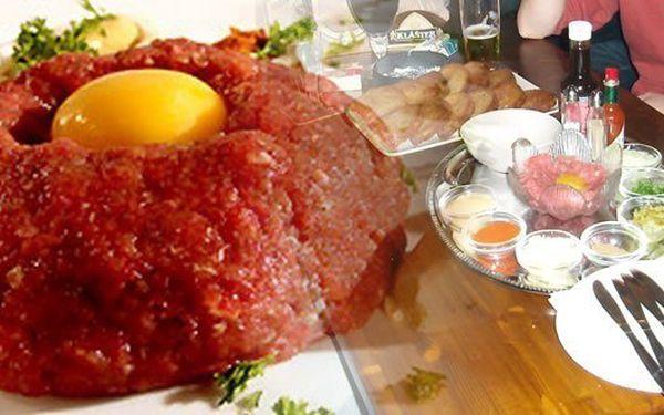 300g tatarák pro 2 osoby plus 15 topinek se slevou 52%. Přejeme Vám dobrou chuť a příjemný zážitek.