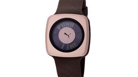 750,- Kč za krásné dámské náramkové hodinky PUMA s dotykovým displejem v hnědém provedení! Sleva 62 %!