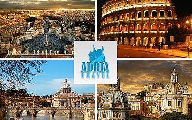 4-dňový zájazd do históriou dýchajuceho Ríma od CK Adria Travel! V cene doprava, ubytovanie, raňajky, sprievodca a poistenie! Veľkolepá a zároveň romanticka metropola Talianska očarí každého! Len teraz zľava 33%!