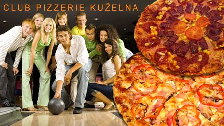 Užijte si prima večer s přáteli! 2 dráhy kuželek na jednu hodinu a pizza dle vlastního výběru za 149 Kč s HyperSlevou 52 % pro vás, vaše přátele a váš příjemný večer.