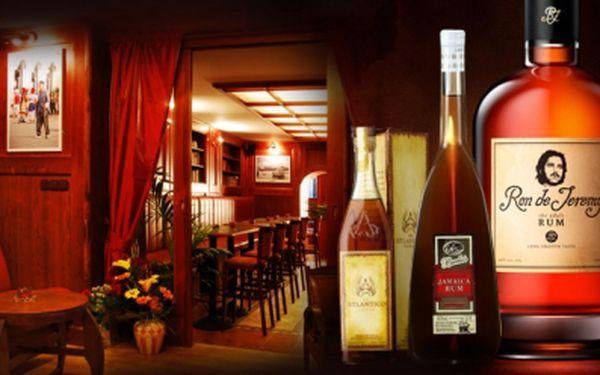 Originální degustace KARIBSKÝCH RUMŮ v pravém kubánském baru včetně výkladu! Přijďte ochutnat 10 vzorků a staňte se odborníkem na rumy! Super zážitek jen za 599 Kč!