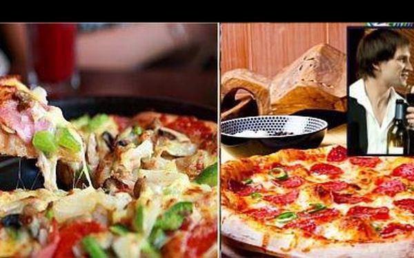 JEN 109 Kč za 2 křupavé pizzy o průměru 32 cm; obě dle vlastního výběru, navíc s možností využití poukazu až do konce června, nyní s 50% slevou.