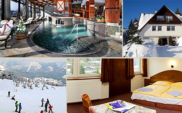 Třídenní pobyt na horách pro 2 osoby v penzionu Fuka ve Špindlerově Mlýně za 2318 Kč. Cena zahrnuje ubytování pro 2 osoby na 2 noci se snídaněmi, 1x 1 hodina návštěvy Spa a Relax Centra hotelu Praha, odpolední čaj nebo káva, parkování u penzionu, WiFi na pokojích.