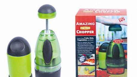Ruční robot AMAZING CHOPPER, (kompletní sada 12-ti dílů) na krájení zeleniny, ovoce a sýrů. ZNÁTE Z TV!!