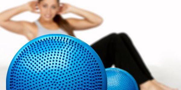 Balanční a masážní disk – podpořte správné držení těla. Disk posílí, stabilizuje a promasíruje svaly, cvičit můžete také v autě nebo kanceláři