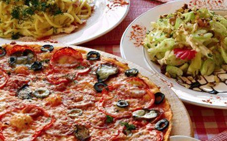 PIZZA, TĚSTOVINY jako z Itálie. Vyrazte do restaurace, kde to žije. Poukaz v hodnotě 100 Kč za 49 Kč. Vyberte si dobroty z italské kuchyně.