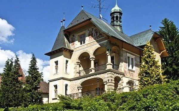 Historická vila v Luhačovicích – 3 nebo 6 dní pro dva s polopenzí, komfortní Boutique hotel Vládní vila v Luhačovicích