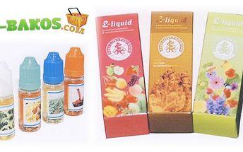 5 x 10ml originální e-liquid náplň s libovolnými příchutěmi pro vaší e-cigaretu a kouření bez zápachu a poštovným zdarma!