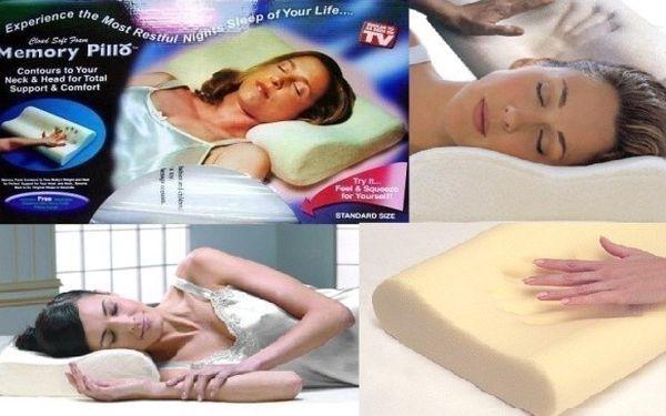 Anatomický polštář s paměťovou pěnou Memory Pillow, který se přizpůsobí Vaší páteři. Zpříjemněte si spánek se slevou 83%!