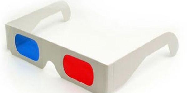 Pouhých 12,-Kč za 3D brýle papírové (Red - Cyan) pro sledování 3D filmů, 3D obrázků, 3D fotek a 3D her !